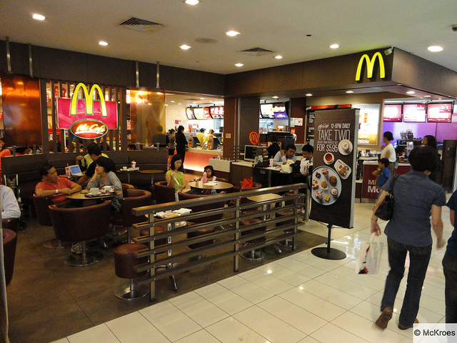 A McDonald's outlet in Singapore.