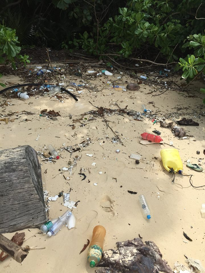 Mei said that the most common form of trash found in Pulau Kapas is plastic.