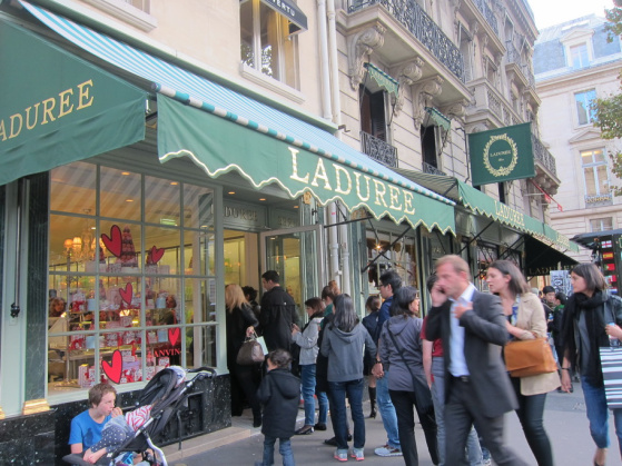 Queues tend to stretch out the door and out into the streets at Ladurée Paris.