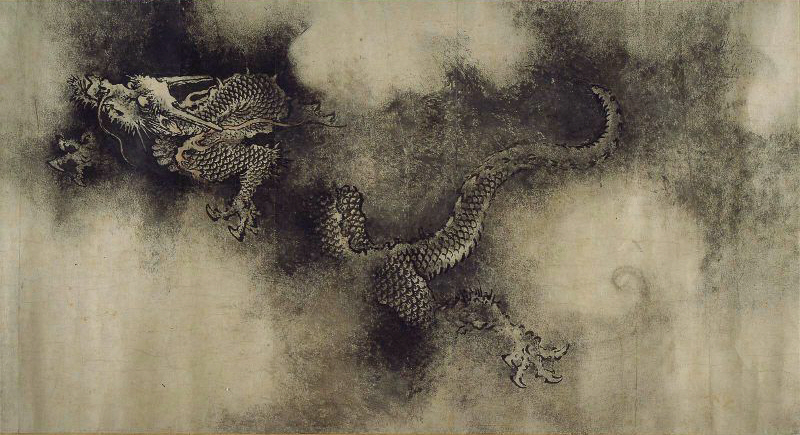A dragon as depicted in a Song Dynasty painting.