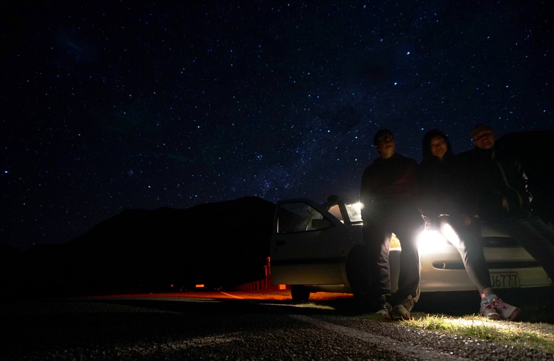 Stargazing di New Zealand.