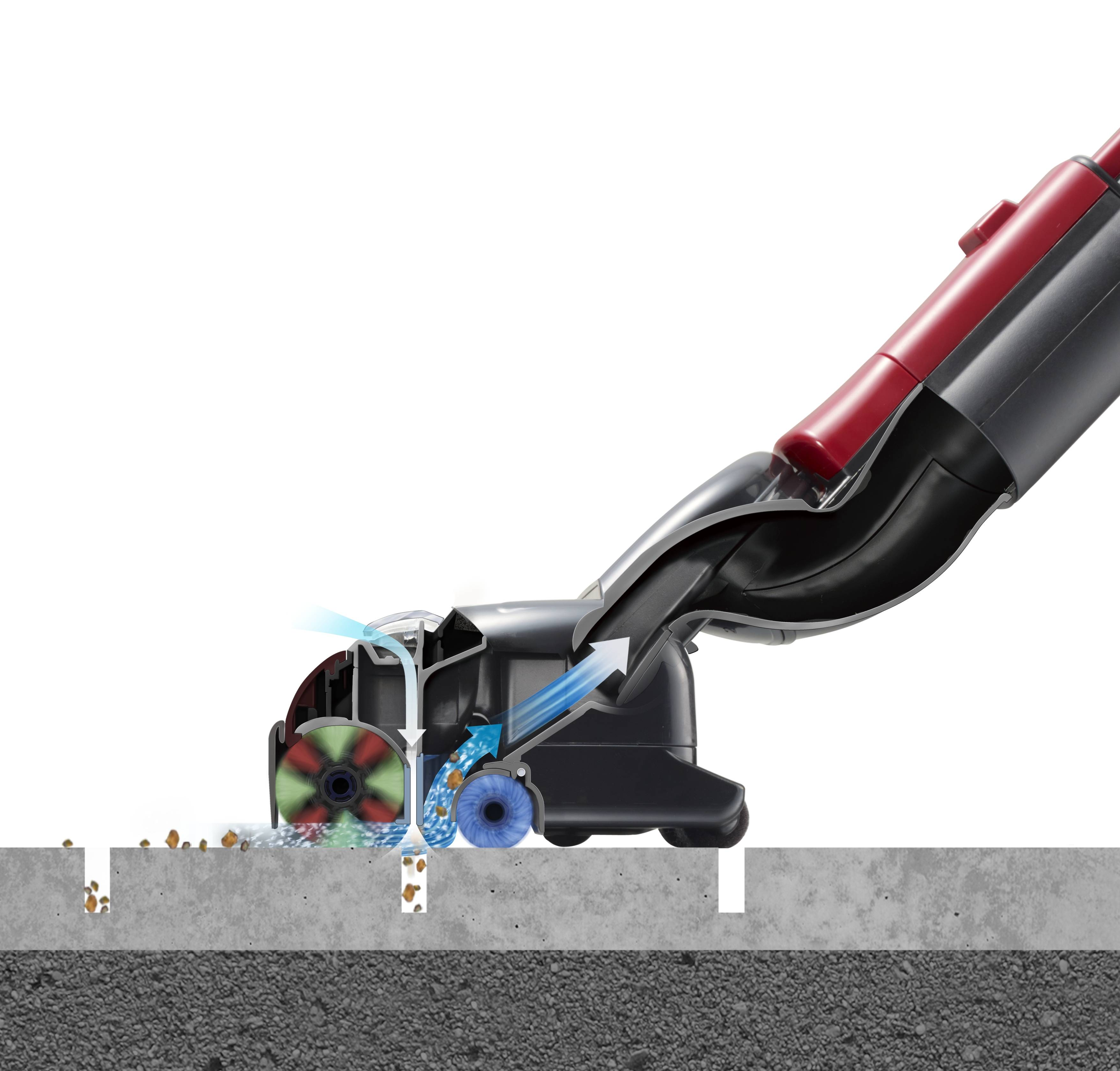 The Smart Head generates high speed airflow for powerful suction