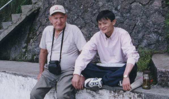 Ken Morley with a young Jack Ma.