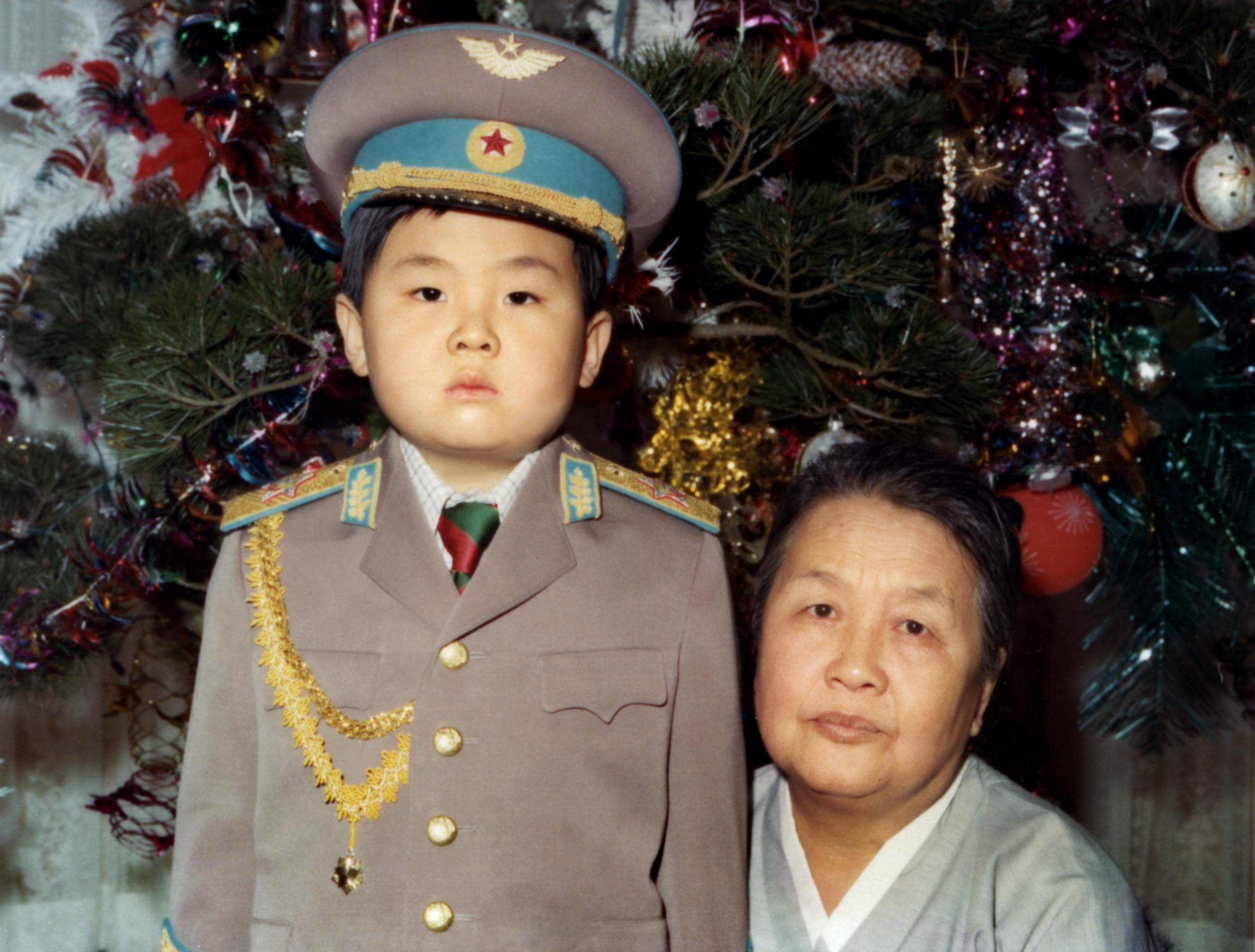 Kim Jong-Nam with his maternal grandmother in January 1975 in an unknown place.