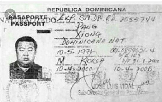 Kim Jong-Nam's fake passport from 2001.