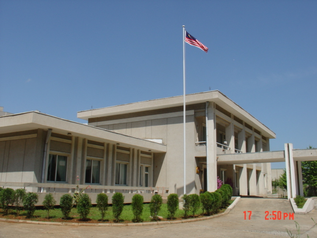 The Malaysian embassy in Pyongyang, North Korea.