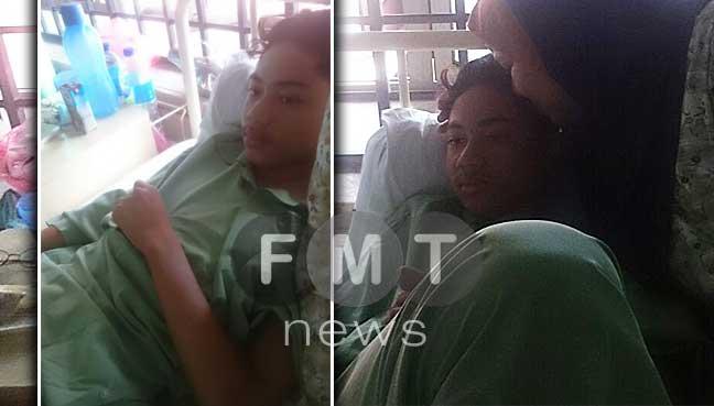 16-year-old Abdul Samad Abdul Kadir is currently receiving treatment at Sultanah Aminah Hospital (HSA).