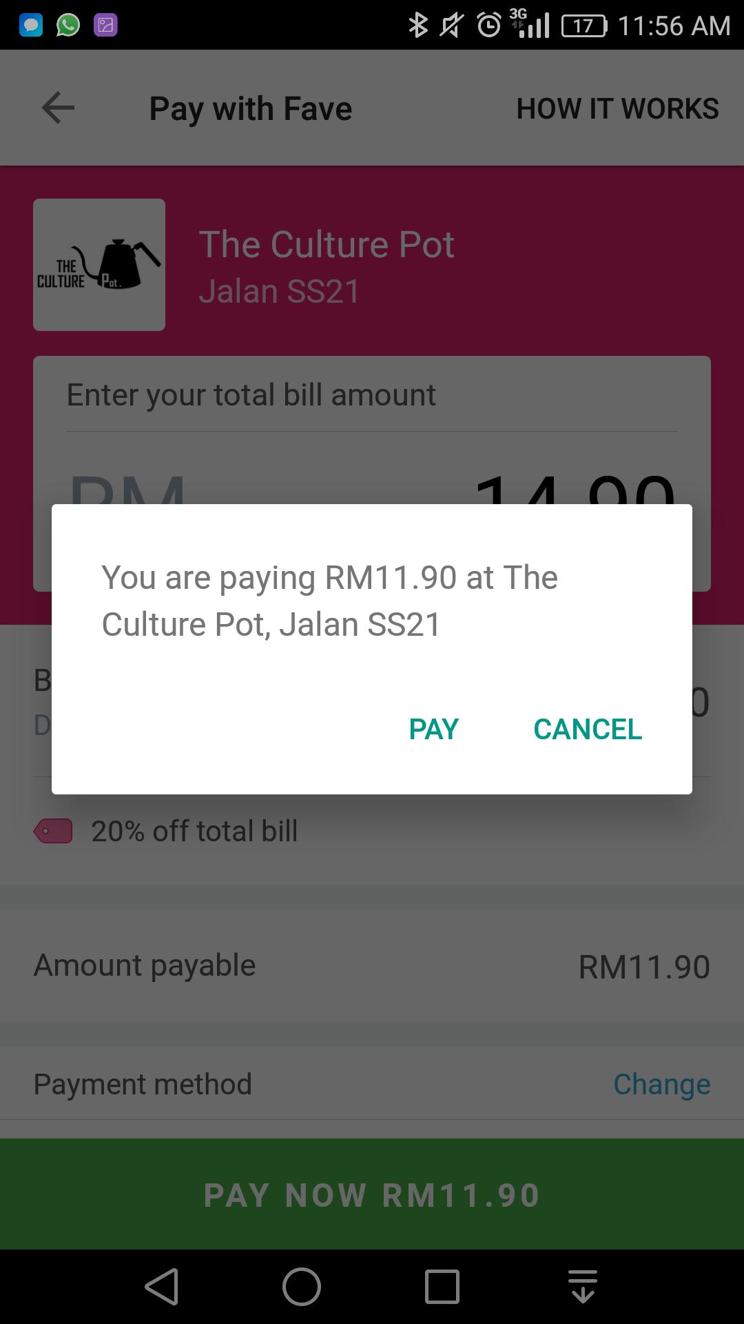 Pilih 'PAY' untuk bayar dan ikut saja arahan seterusnya.