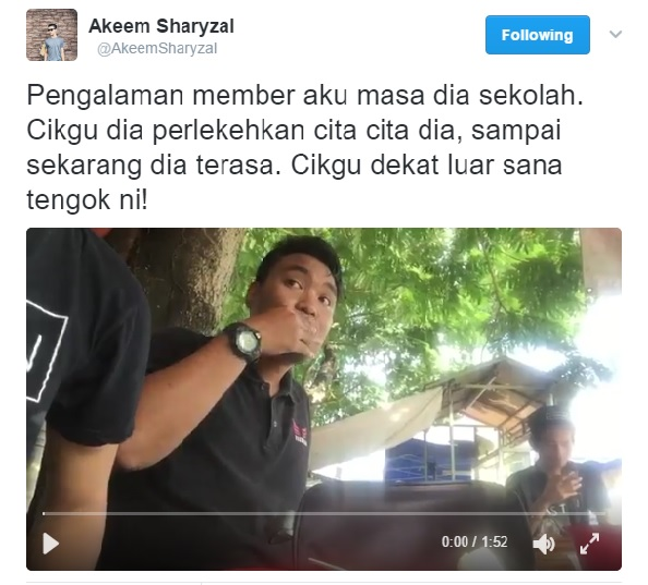 Video: Cikgu Perlekeh Impian Aku - Pemuda Confess Kisah Pahit Zaman Sekolah