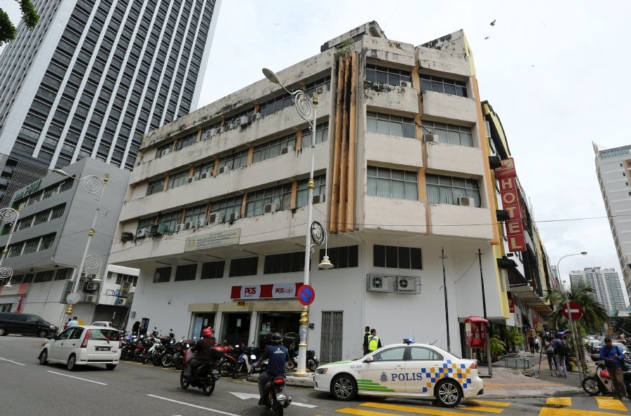 The building which housed the North Korean companies in Brickfields, Kuala Lumpur.