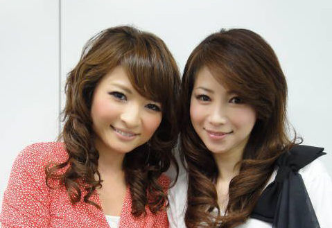 Masako (right) with her then 20-year-old daughter.