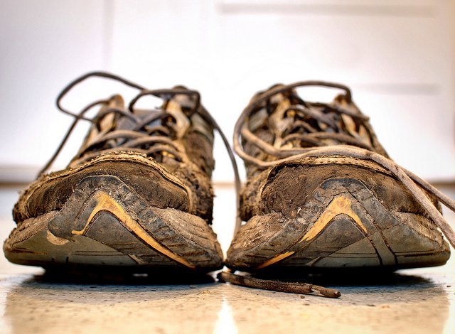 A pair of old running shoes. Image used for illustration purposes only.