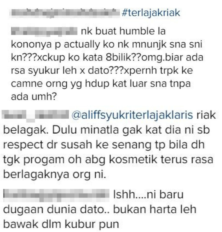 Image from Instagram @aliffsyukriterlajaklaris