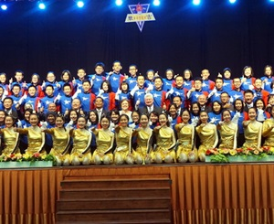 The SMJK Keat Hwa marching band team.