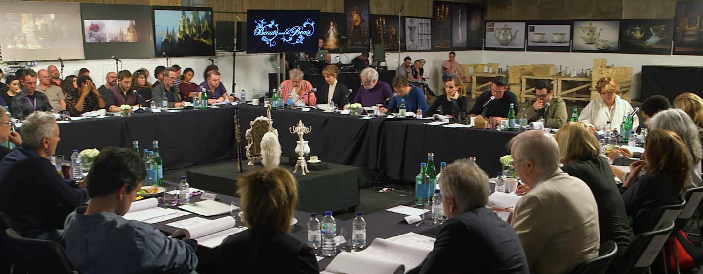 'Beauty and the Beast' table read.