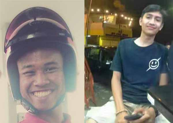 Nazim Mohd Tumirin (left) and Muhammad Iqbal Md Fauze (right) were killed after they got into an accident on Sunday morning.