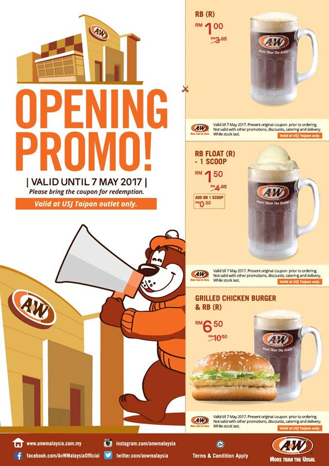 Image from A&W Malaysia Facebook