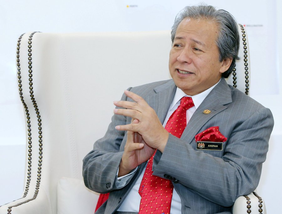 Foreign Minister Datuk Seri Anifah Aman during an exclusive interview at Putrajaya after the opening of the Malaysian Embassy to The Holy See.