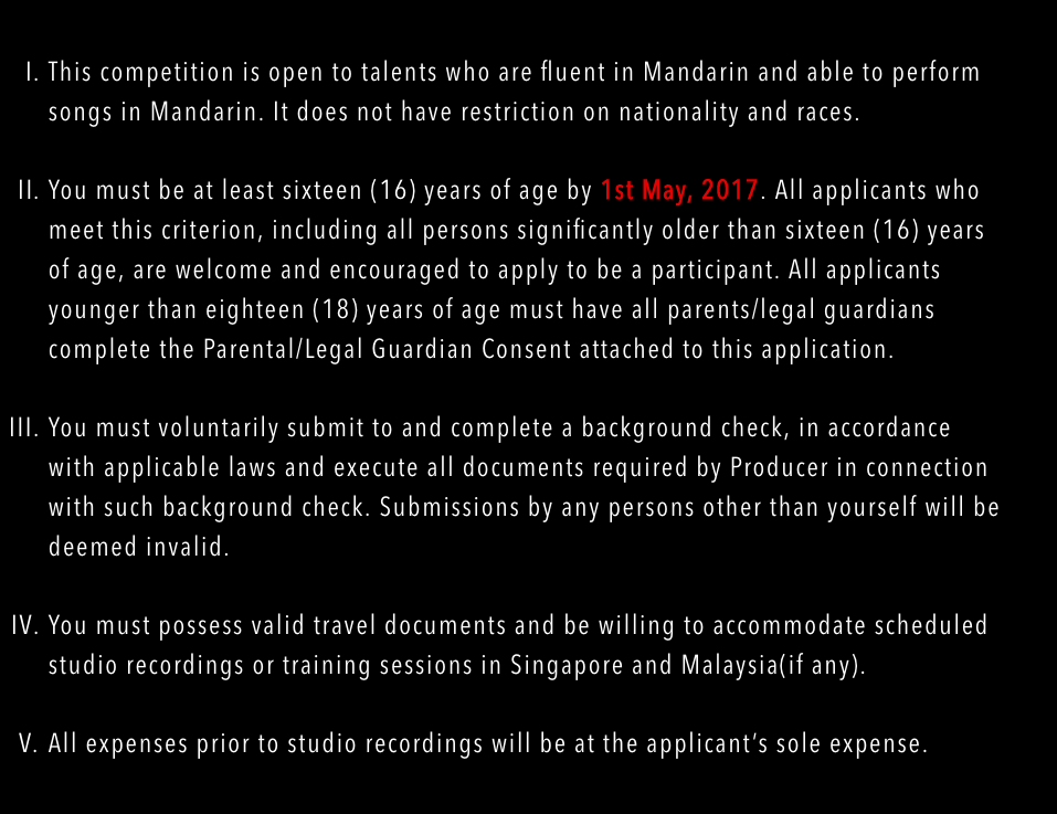 Screenshot of the Eligibility page from the official website.