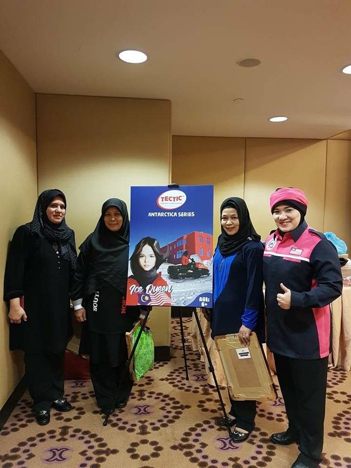 Dr Sharifah Mazlina Syed Abdul Kadir (right) at the All Women Expedition to Antarctica (AWETA) programme launch yesterday, 15 May.