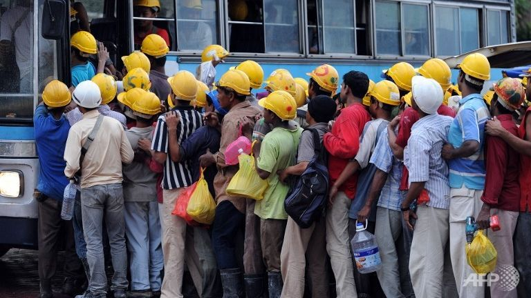 Immigrant workers in Malaysia.