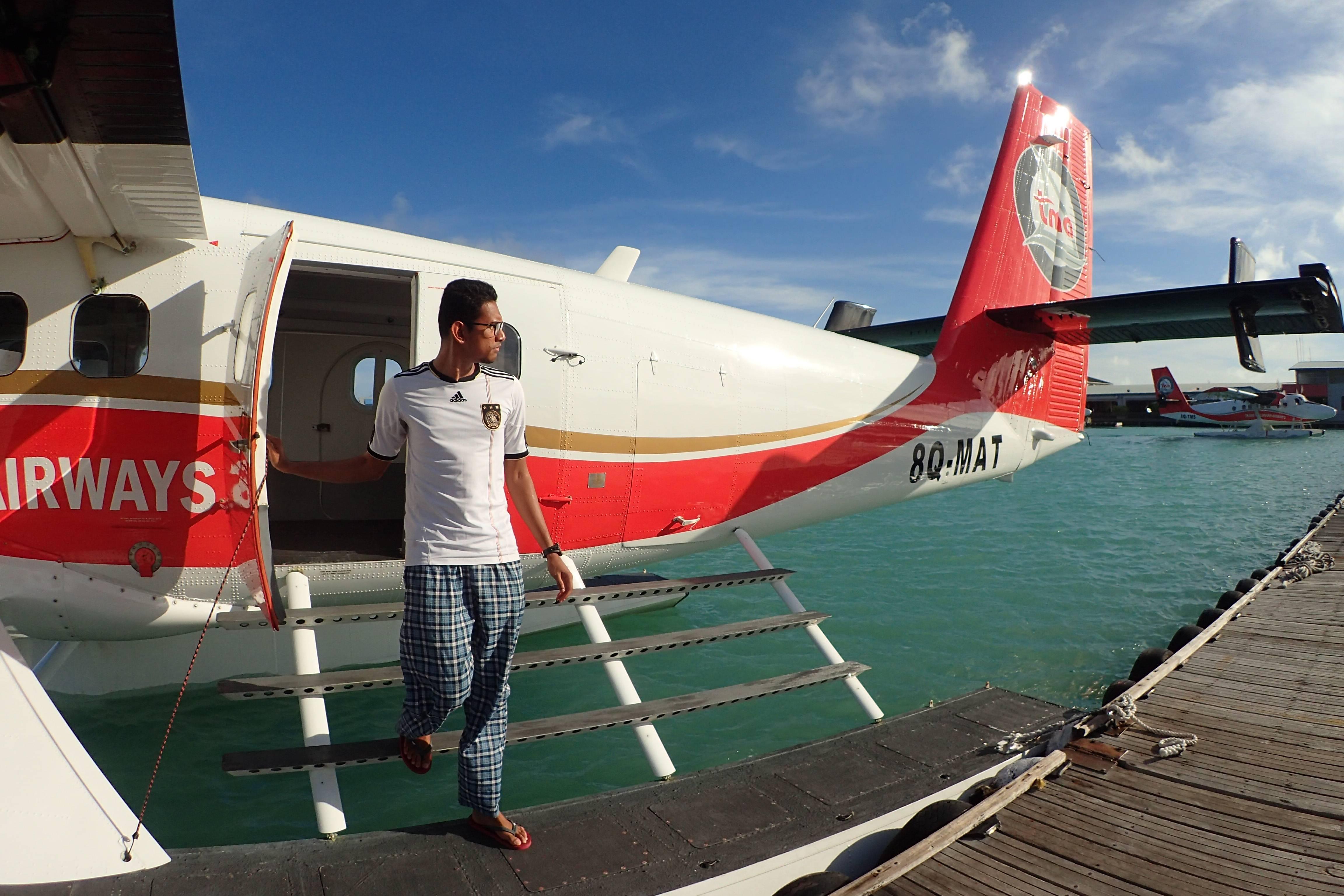 We got the chance to board the seaplane as well.