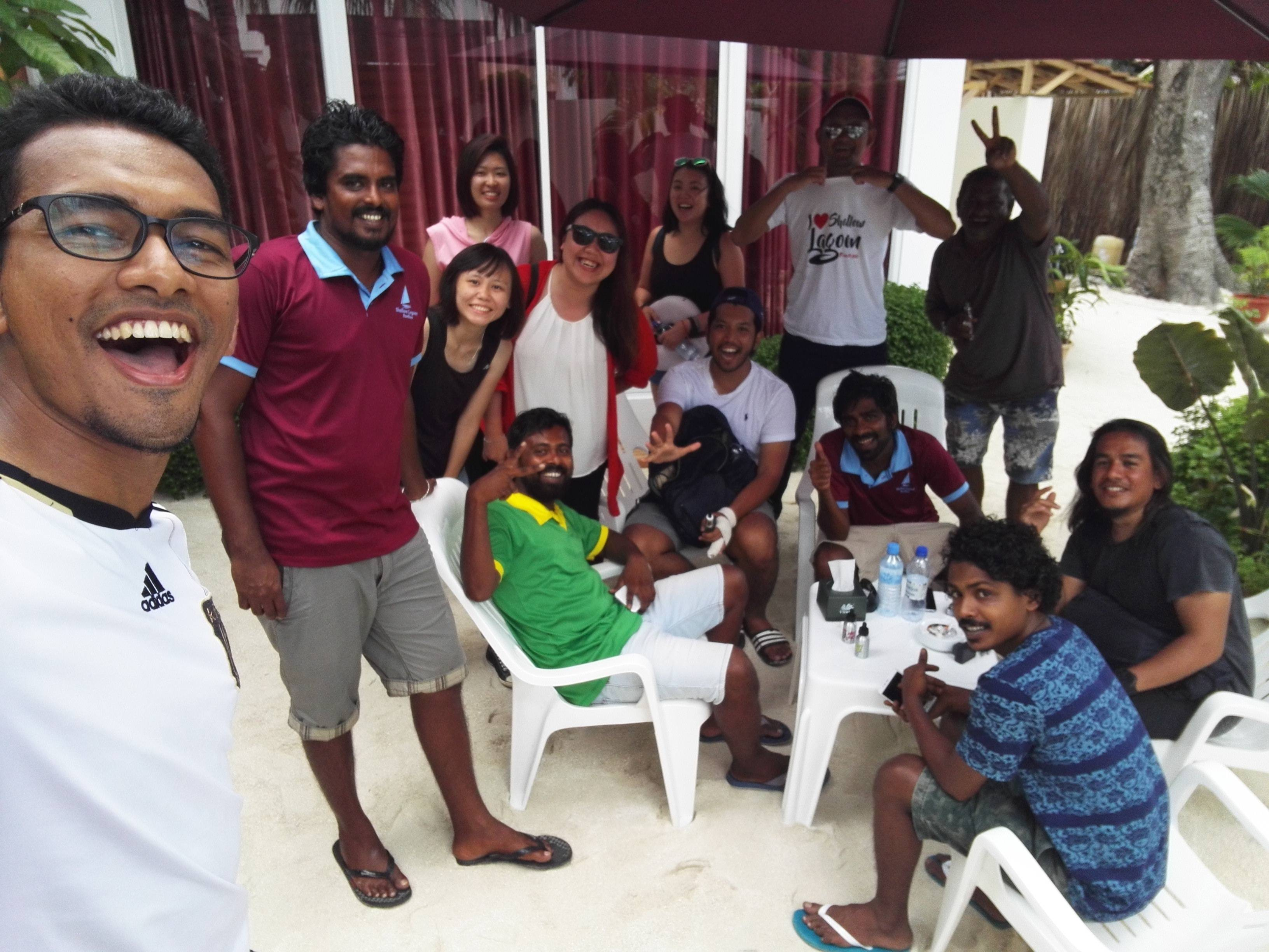 Thanks Shallow Lagoon Rasdhoo and Holiday Garden Rasdhoo for the great hospitality. We shall meet again soon!