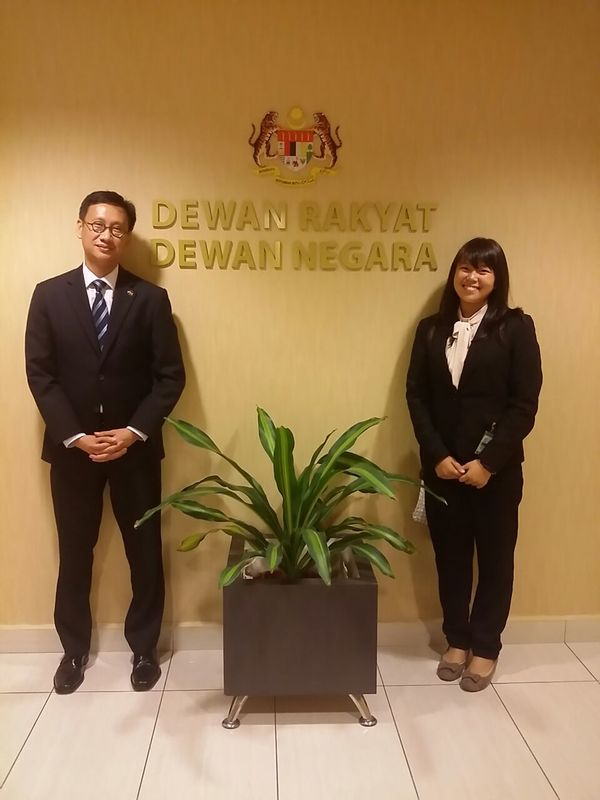 YB Wong Chen and myself, in the Parliament building