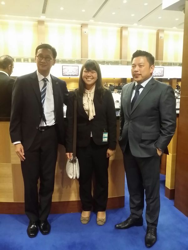 With Wong Chen (left), and Darell Leiking, Member of Parliament for Penampang, Sabah (right)