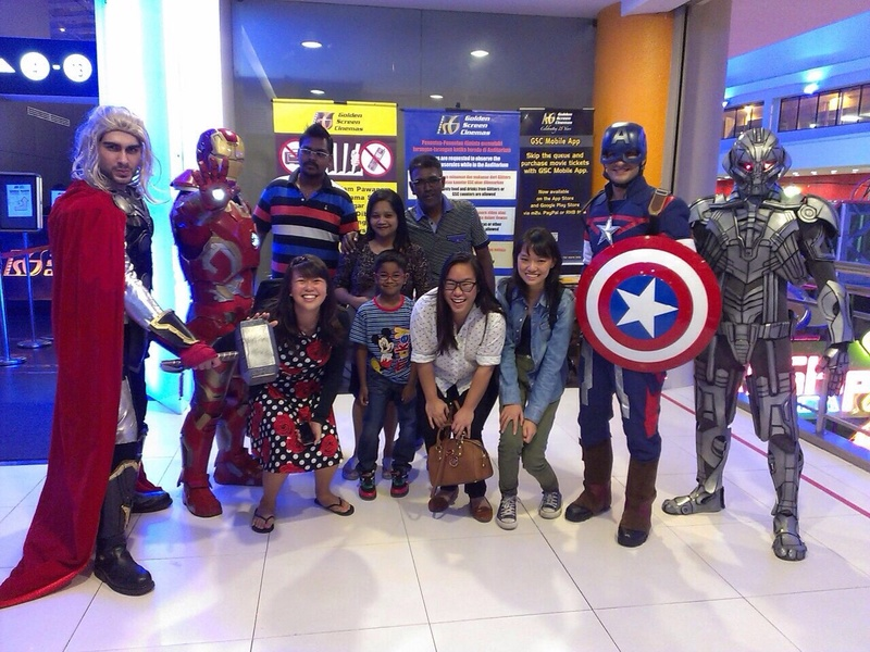 At Avenger's movie screening with colleagues!