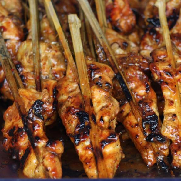 Ayam percik, glazed with a sweet and spicy sauce @ Stadium Shah Alam Ramadan bazaar.
