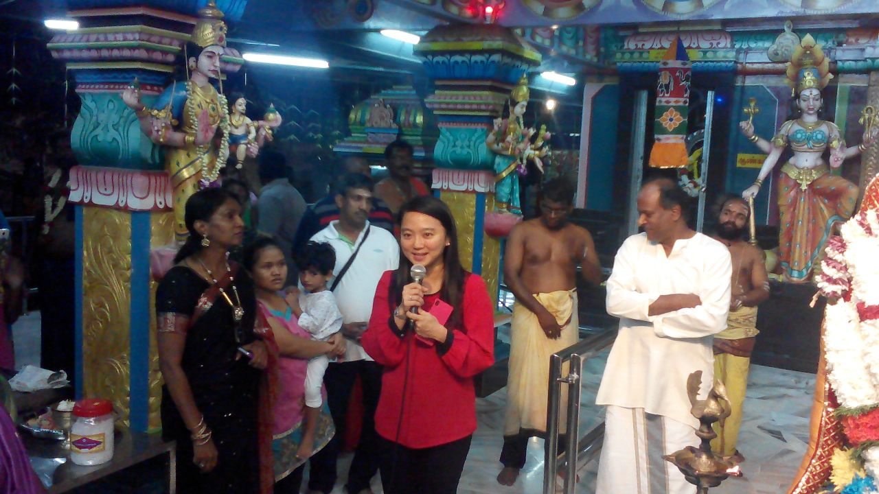 In a temple on Tamil New Year's Day