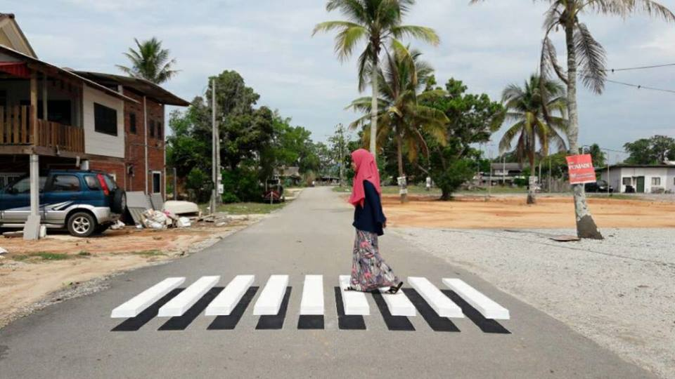 Line Drawing Of Zebra Crossing : This cool d zebra crossing in terengganu is perfect for