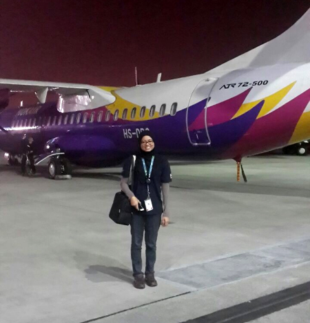 Fatin Nabilah Alias was working in the aviation industry before she quit her job about two years ago.