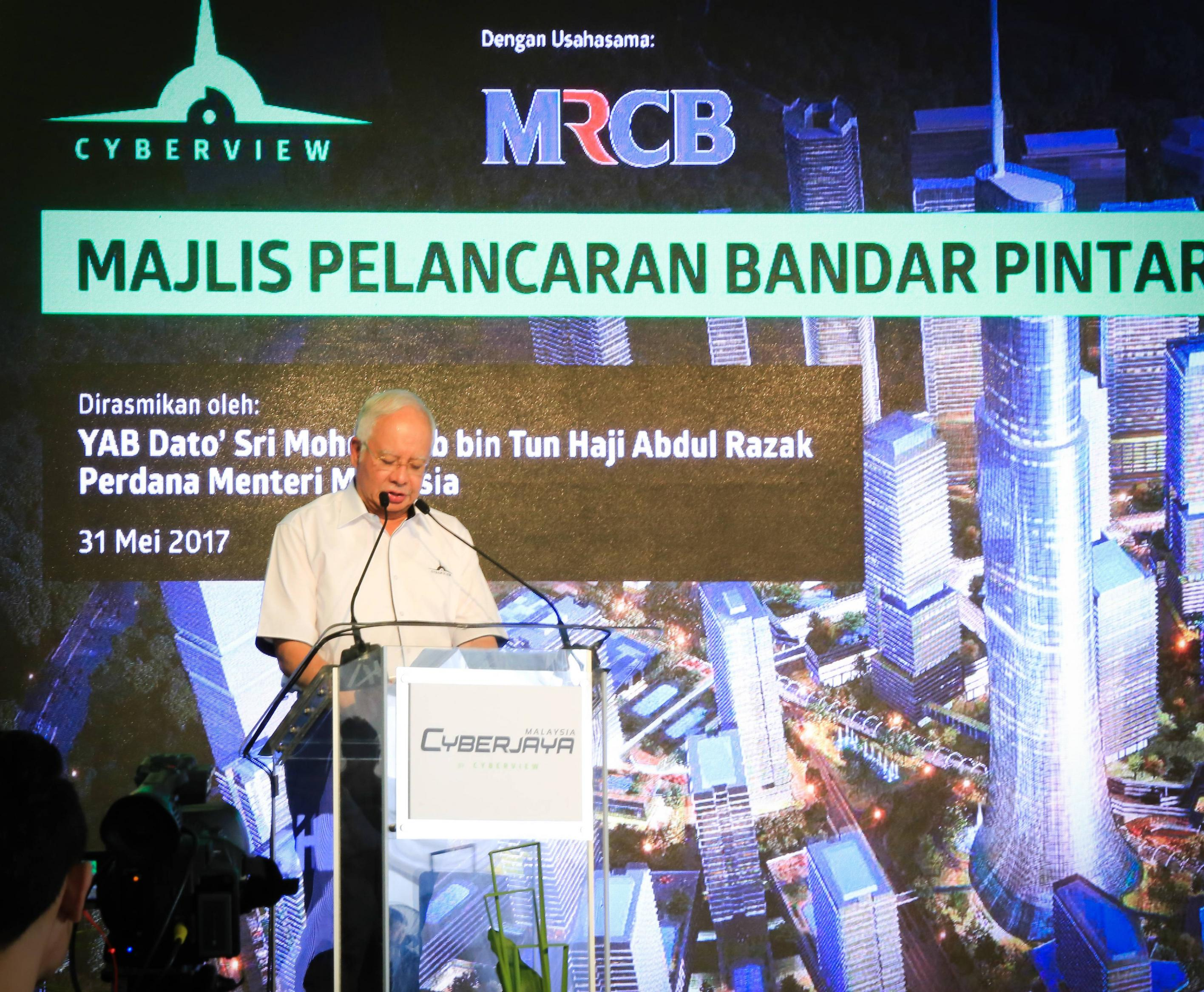 Dato' Sri Najib at the Cyberjaya Smart City Launch event held in conjunction with its 20th celebration.