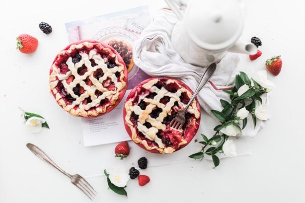 Strawberry and Raspberry Pie.
