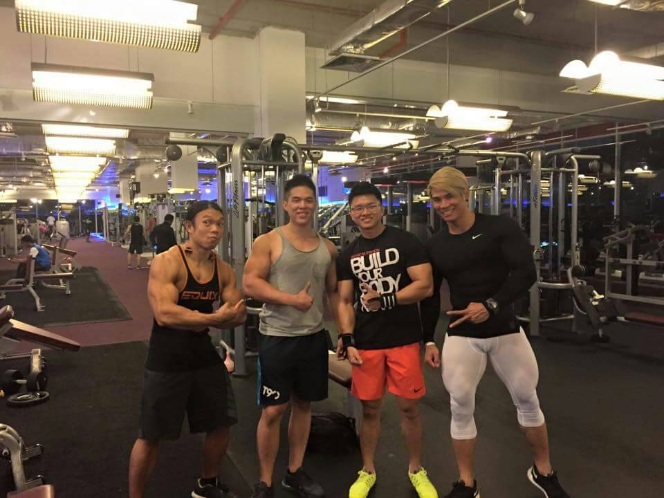 Me, on the left with members of True Fitness Jaya 33. On the far right is Terrence Teo, MuscleMania International champion.