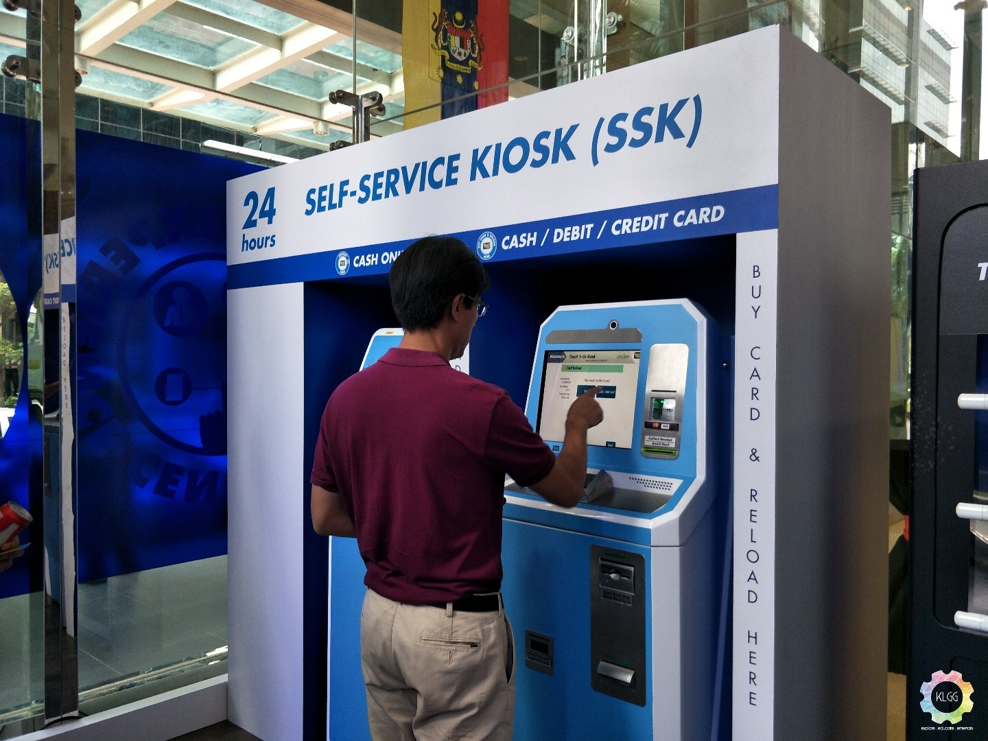 A self-service Touch 'n Go reload kiosk.