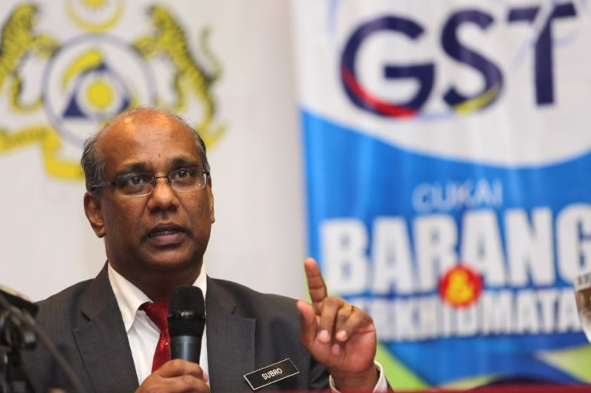 Customs Department director-general Datuk Subromaniam Tholasy