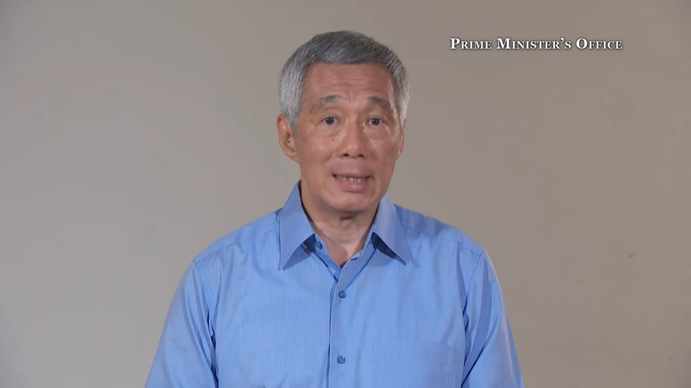 PM Lee speaking about the feud between him and his two siblings in a recorded statement posted on Monday, 19 June.