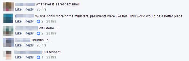 More netizens praising PM Lee for the apology video.