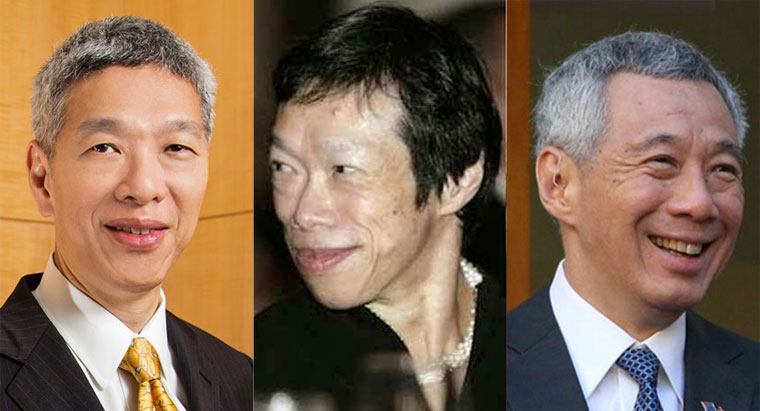 The Lee siblings: (From left) Lee Hsien Yang, Lee Wei Ling and PM Lee Hsien Loong.