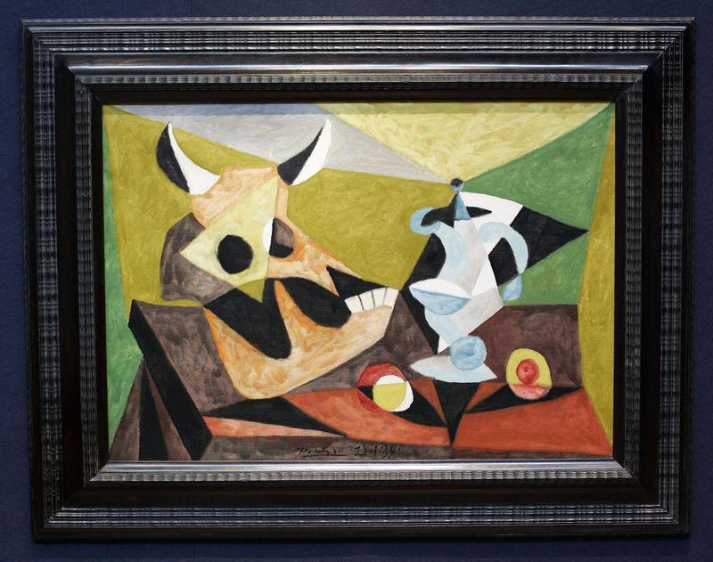 Picasso's 'Nature Morte au Crane de Taureau'.