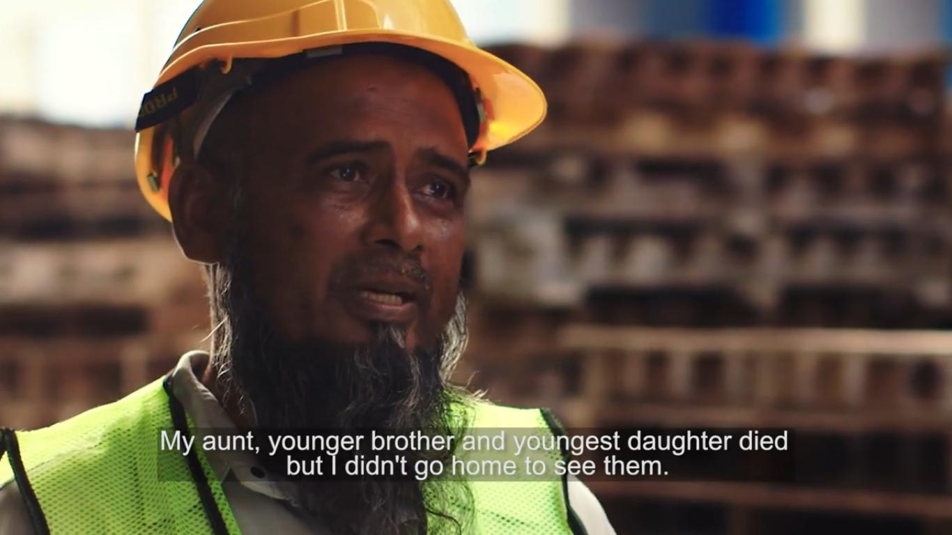 Mohamed Johorloh, a foreign worker with the Mah Sing Group from Bangladesh spoke about how his financial situation kept him away from his family, even when some of them passed away.