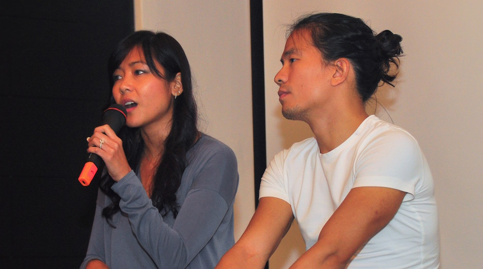 Cheryl Yeoh and Khailee Ng speaking at NEXT Academy, a Malaysian coding school backed by 500 Startups in August 2016.