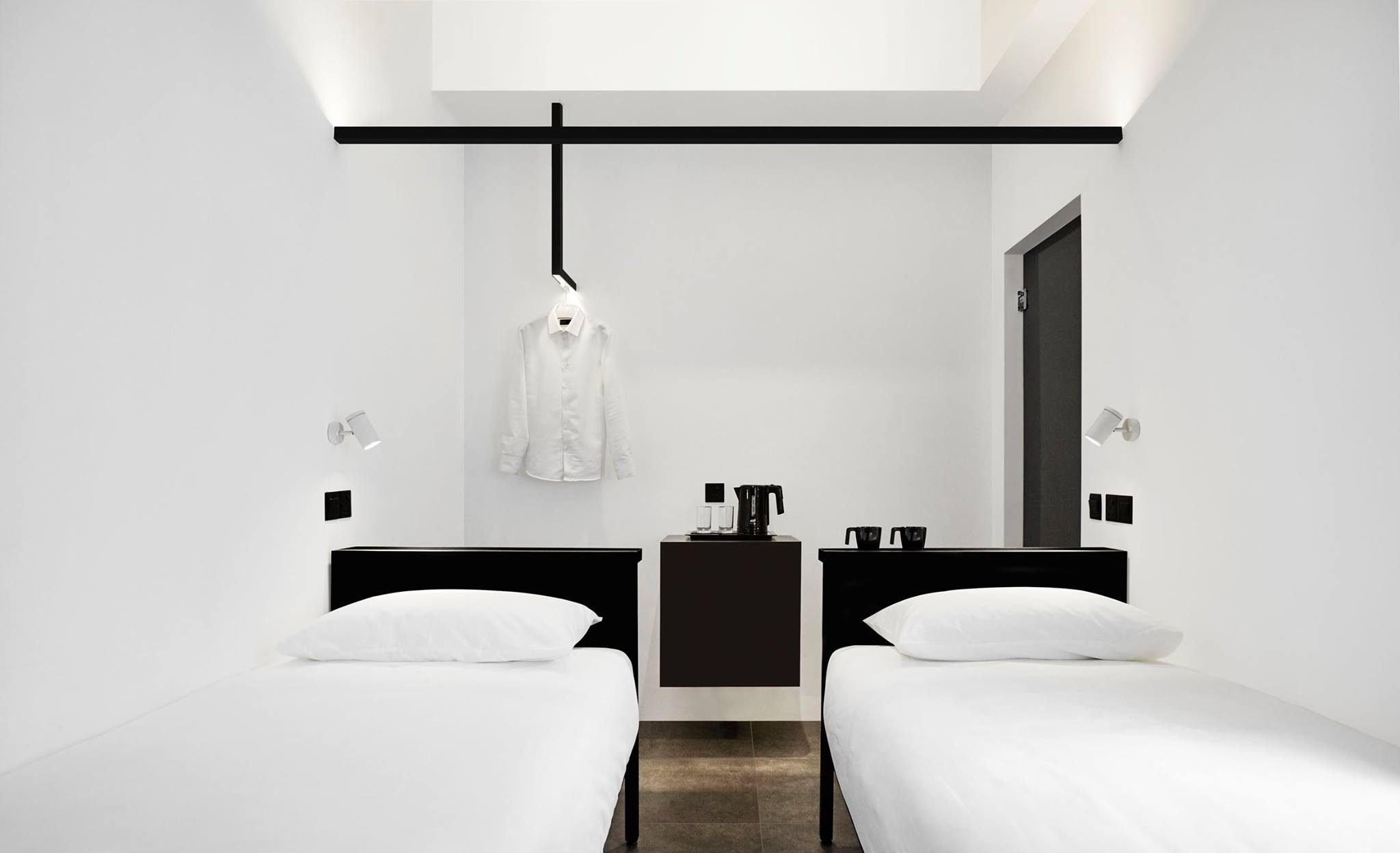 We Love How Everything Is Black And White In This Hotel In