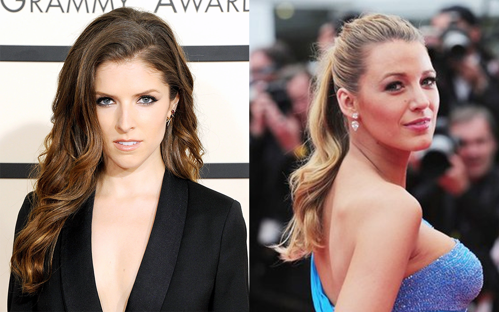 Anna Kendrick (left) and Blake Lively (right).