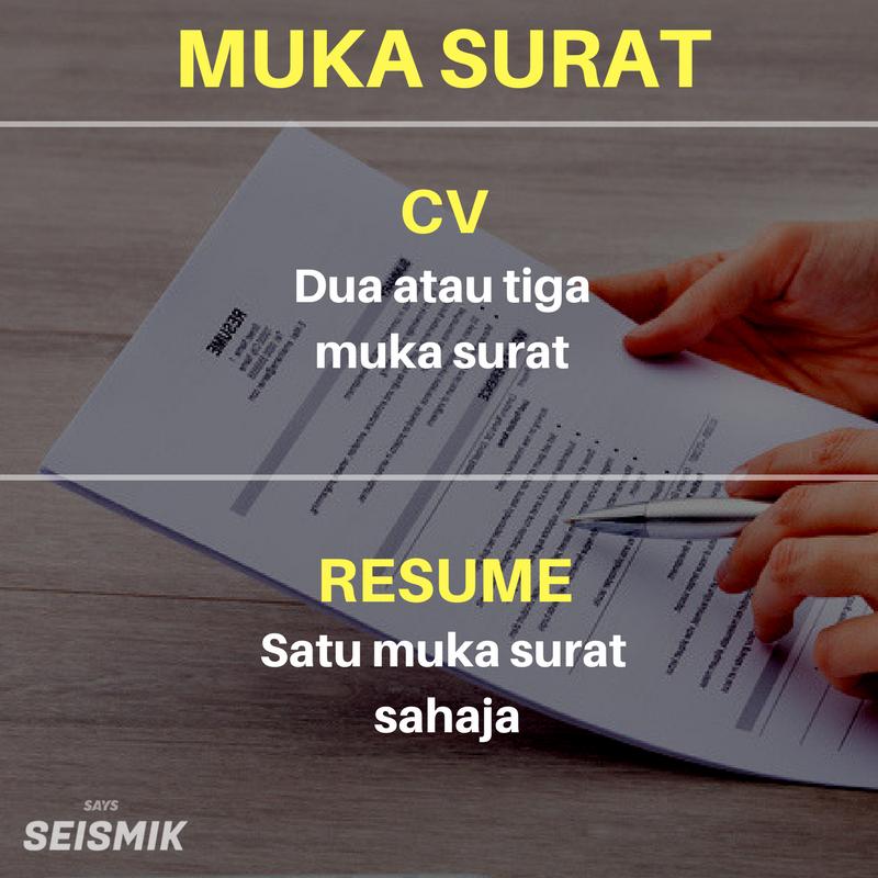 keliru antara cv  u0026 resume  ini 6 point penting yang perlu