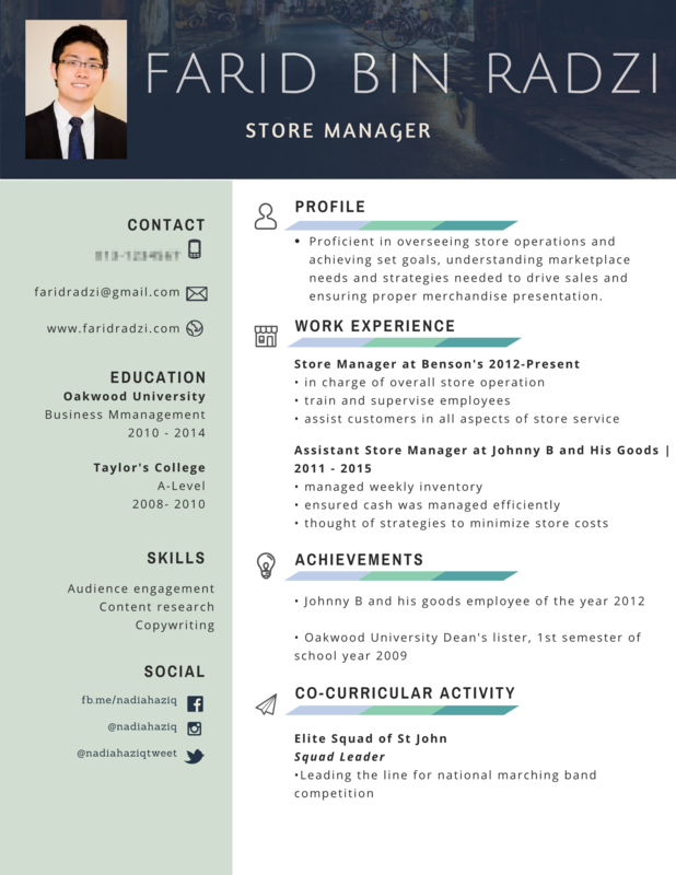 Contoh Resume Memohon Pekerjaan
