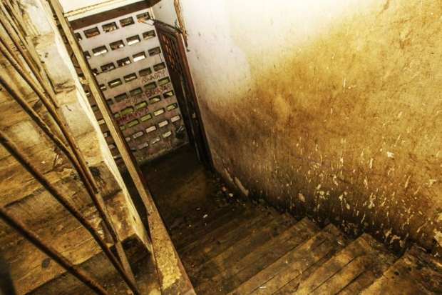 The stairway leading to the unit in Chow Kit where the rape took place.